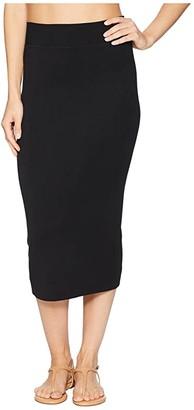 Hard Tail Middy Skirt (Black) Women's Skirt