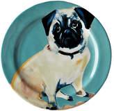 Anthropologie Sally Muir Dog-a-Day Dessert Plate, Dia.21.5cm, Pug