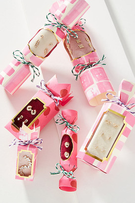 Anthropologie Holiday Cracker Earrings, Set of 2 By in Pink