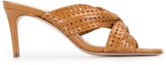 Schutz Perforated-Detail Slip-On Sandals