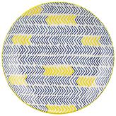 Pols Potten Dakara Chevron 20cm Plate, Blue / Yellow