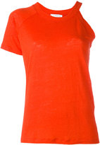 IRO asymmetric top - women - Linen/Flax - XS