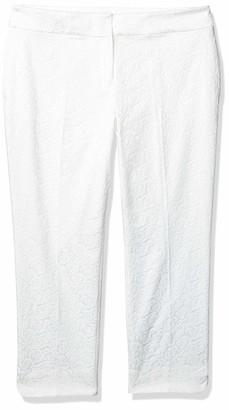 Kasper Women's Floral Jacquard Trouser Pant with Side Slit