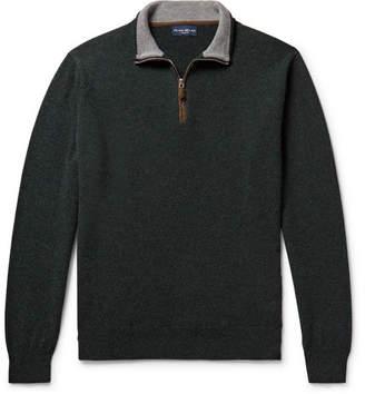 Cashmere-Blend Half-Zip Sweater