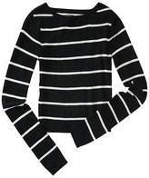 Aeropostale Womens Prince & Fox Thin Stripe Cropped Sweater
