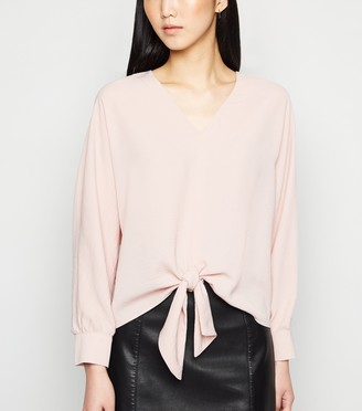 New Look Long Sleeve Tie Front Blouse