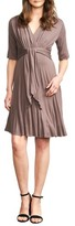 Maternal America Women's Tie Waist Maternity Dress