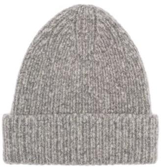 Acne Studios Kabelo Ribbed Wool-blend Beanie Hat - Grey