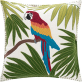 Jan Constantine Tropical Parrot Cushion - Cream