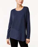 Style&Co. Style & Co Ribbed Asymmetrical Top, Only at Macy's