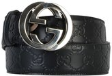 Gucci Men's 411924cwc1n1000 Black Leather Belt