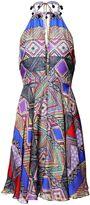 Matthew Williamson Andean Artisan Silk Halter Dress