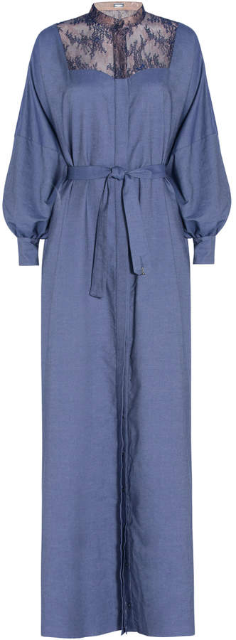 Alexis Mabille Lace Chambray Kaftan