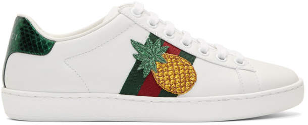 dcb1c9d005e Gucci Ace Sneakers Silver - ShopStyle