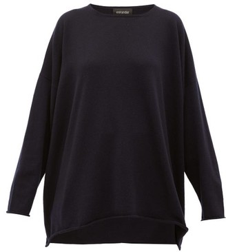 eskandar Boat-neck Cashmere Sweater - Womens - Navy