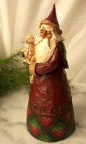 "Jim Shore - Heartwood Creek - Santa with Cat 10 1/2"" by Enesco - 105167"