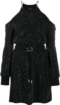 Diesel Studded Cold-Shoulder Dress