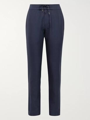 Sease Sunset Linen And Virgin Wool-Blend Drawstring Trousers