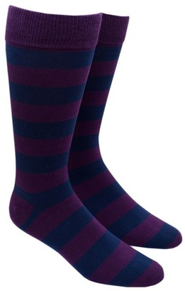 The Tie Bar Navy Super Stripe Socks