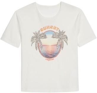 Sandro Suny Embellished Graphic T-Shirt