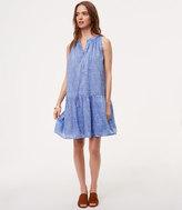 LOFT Dot Chambray Drop Waist Dress
