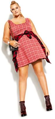 City Chic Cute Pini Dress - red