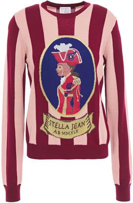 Stella Jean Striped Intarsia Wool-blend Sweater