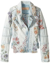 Blank NYC Kids - Denim Floral Embroidered Jacket in Sitting Pretty Girl's Coat