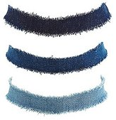 Charlotte Russe Plus Size Denim Choker Necklaces - 3 Pack