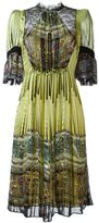 Etro panelled bell sleeve dress