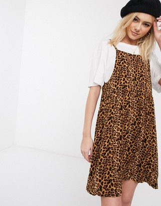 Daisy Street cami mini dress in leopard print