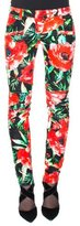 Balmain Floral-Print Biker Pants