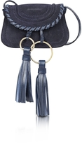 See by Chloe Polly Ultramarine Suede & Leather Mini Crossbody Bag w/Tassels