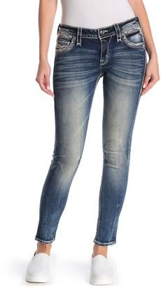 Rock Revival Ankle Skinny Embellished Jeans