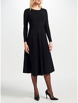 John Lewis Knitted Fit And Flare Dress, Black