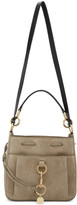See by Chloe Grey Large Suede Tony Bucket Bag