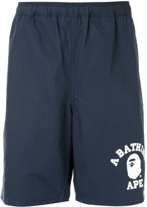A Bathing Ape Logo-Print Track Shorts
