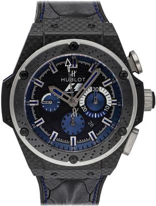 Hublot Black/Blue Carbon Fibre King Power F1 Interlagos Limited Edition 703.QM.1129.HR. FIL11 Men's Wristwatch 48 MM