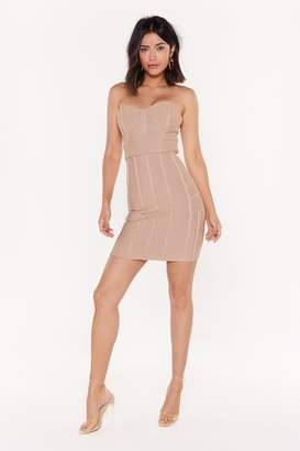 Nasty Gal Bust My Luck Strapless Bandage Dress