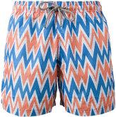 Okun - Bolga zig-zag print shorts - men - Polyester - S