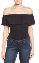 Bobeau Women's Ruffle Off The Shoulder Bodysuit
