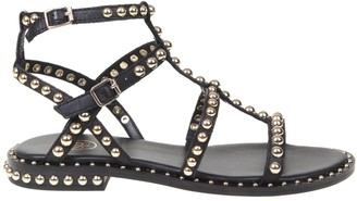 Ash Precious Leather Sandal With Studs
