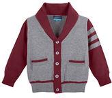Andy & Evan Baby Boys Shawl Collar Varsity Sweater