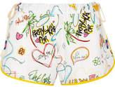 Mira Mikati Printed Cotton-blend Shorts