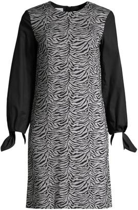 Escada Sport Dpolina Animal-Print Jacquard Dress