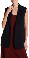 Helmut Lang Notch Collar Long Vest