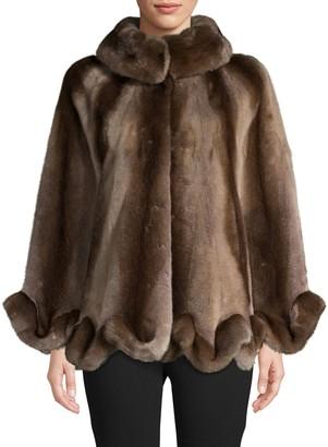 Wolfie Fur Made For Generation Mink Fur Cape