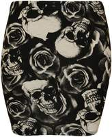 Xclusive Collection New Womens Mini Bodycon Jersey Stretch Printed Skirts ( , XL )