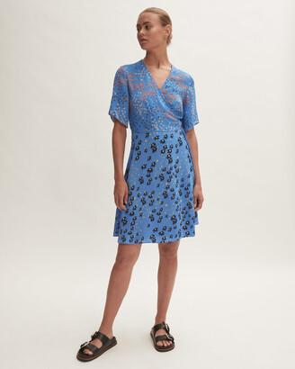 Jigsaw Animal Floral Print Wrap Dress