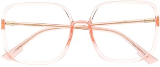 Christian Dior Clear Frame Square Glasses